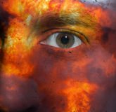 Face with an explosion skin Stock Images