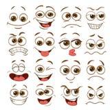 Face expression set. vector illustration emoticon cartoon.  royalty free illustration