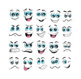 Face expression set vector illustration royalty free stock images