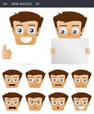 Face expressions 02. Set of face expressions icons. gh series Stock Image