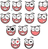 Set of difference Face expressions Stock Photography