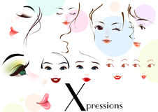 Face expressoins Royalty Free Stock Images