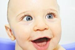 Face feliz do bebê fotos de stock