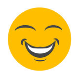 Face feliz do smiley ilustração stock