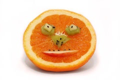 Face feliz Fruity fotografia de stock