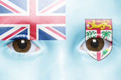 Face with fiji flag Stock Photo