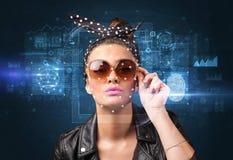 Face and fingerprint detection concept stock images