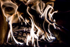 Face in flames Stock Images