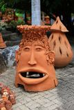 Face flowerpot. The image of flowerpot in face shape its was made from stock image