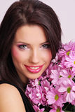 Face with flowers Royalty Free Stock Photos
