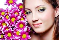 face flowers pink Στοκ Εικόνες