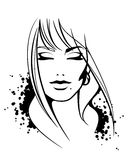 Face fêmea Imagens de Stock Royalty Free