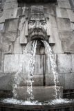 Face Fountain, Milano Centrale station, Milan, Italy Stock Image