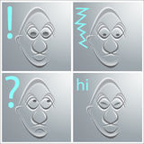 Face. Four faces with different emotions Royalty Free Stock Photos