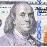 The face Franklin the dollar bill Royalty Free Stock Image
