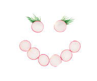 Free Face From Red Radish Slices. Royalty Free Stock Image - 43206376