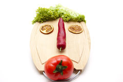 Face From Vegetable Royalty Free Stock Photos