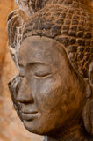 Face front of stone Buddha Stock Image
