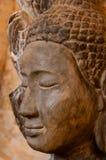 Face front of stone Buddha Stock Image