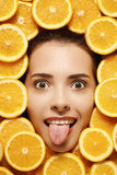 Face in fruits d Royalty Free Stock Photography