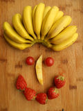 Face of fruits Stock Image
