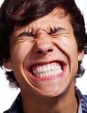 Face full of pain Stock Photo