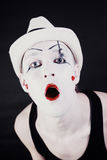 Face of Funny screaming mime Stock Photo