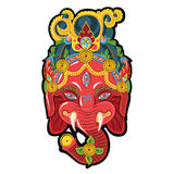 Face for ganesh. Hindu Lord Ganesha. Face for ganesh. Vector illustration stock illustration