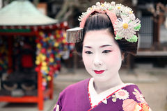 Face of Geisha Stock Images