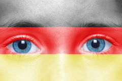 Face with german flag Stock Image