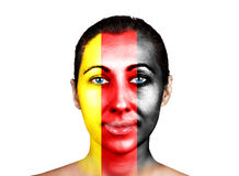 Face, Germany flag Royalty Free Stock Images
