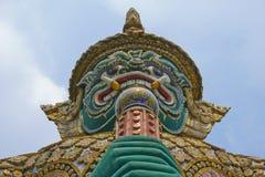 Face of the giant. Temple of the Emerald Buddha (Wat Phra Kaew), Bangkok, Thailand Royalty Free Stock Photos