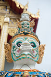 Face of Giant stand around pagoda of thailand. Giant stand around pagoda of thailand Royalty Free Stock Photography