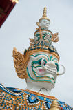 Face of Giant stand around pagoda of thailand. Giant stand around pagoda of thailand Stock Image