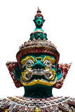 Face of giant thai style  statue on white background Royalty Free Stock Images