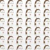Face for gift card, or background patter, fabric, repeated motif Stock Photos
