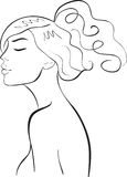 Face girl. Illustration abstract royalty free illustration