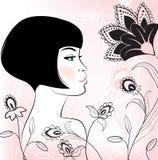 Face girl. Beauty face girl illustration vector illustration