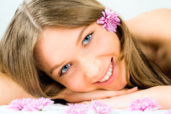 Face of girl Stock Image