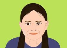 face girl ilustração royalty free