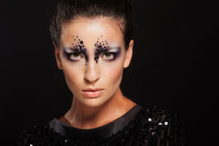 Face of girl with fashion makeup Royalty Free Stock Images