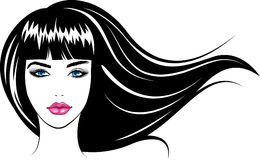 Face girl. Vector Illustration Stock Images