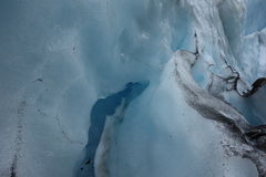 The face of a glacier. Royalty Free Stock Photography