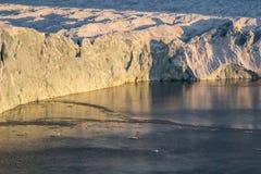 Face glacier in sun light Stock Images