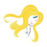 Face glamorous girl cartoon Royalty Free Stock Photos