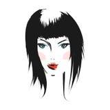 Face glamorous girl cartoon Stock Photography
