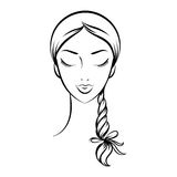 Face glamorous girl cartoon Royalty Free Stock Images