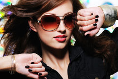 Face of glamour stylish beautiful woman royalty free stock photos
