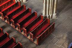 In Face Of God. Seats in face of Majesty of God - red seats between stone Royalty Free Stock Images