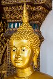 Face of gold buddha,  Thailand ,Asia Stock Photography
